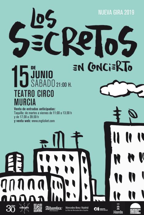 Los Secretos presentan su nuevo trabajo en Murcia, el 15 de junio de 2019 en el Teatro Circo