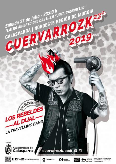 GRAN NOCHE DE ROCK AND ROLL EN CALASPARRA. LOS REBELDES | AL DUAL | LA TRAVELLING BAND. CUERVARROZK 2019 · CALASPARRA