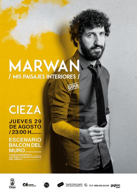 """Marwan · """"Mis paisajes interiores"""" · Concierto en Cieza, el jueves 29 de agosto de 2018"""